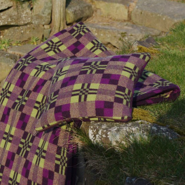 Cushion - Melin Tregwynt Cassis, Welsh Gift Shop £39.00