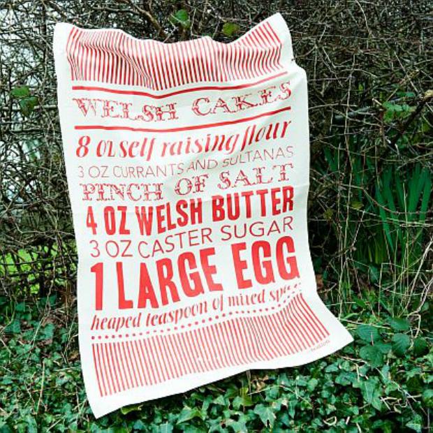 Welshcake Tea Towel, Bodlon £8.00