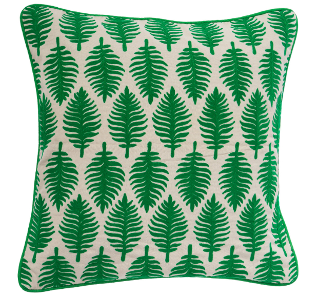 Leaf Cushion in Emerald Green, Atkin and Thyme £29.00