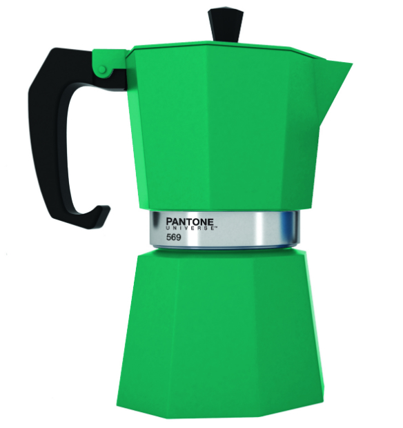 Emerald Green Pantone 569 coffee maker, Berry Red £30.00
