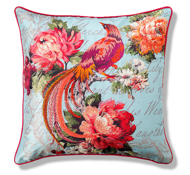Embroidered Fluro Bird Cushion, Marks and Spencer £29.50