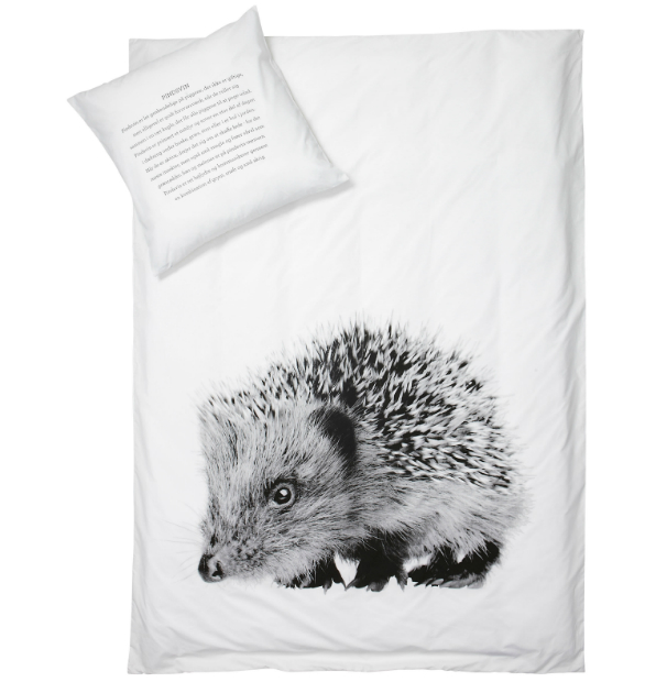 By Nord Junior Hedgehog Animal print Bed Linen Set, Cloudberry Living £54.00