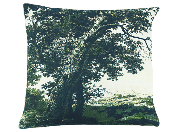 Boho & Co Trees Two Green Linen Cushion, Cotswold Trading £46.50
