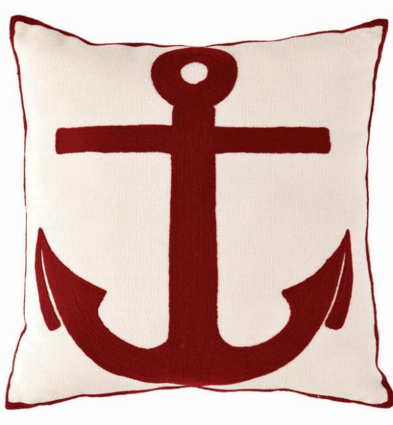 Admiral Red Indoor/Outdoor Cushion, Dash & Albert Europe £53.52