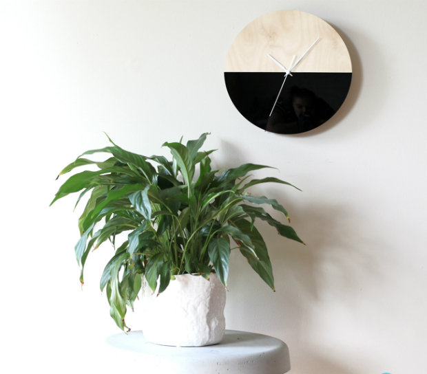 Half Moon Wall Clock, Etsy £119.00