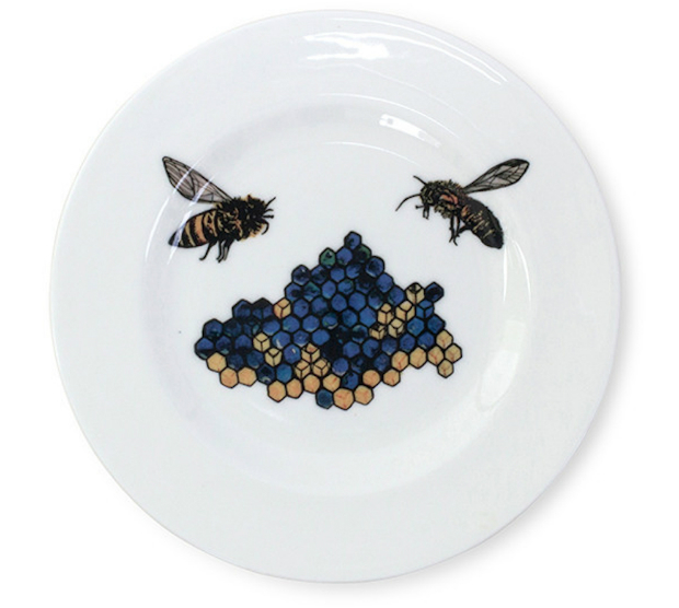 Blue Honey Bee Small Plate, IN-SPACES £15.00