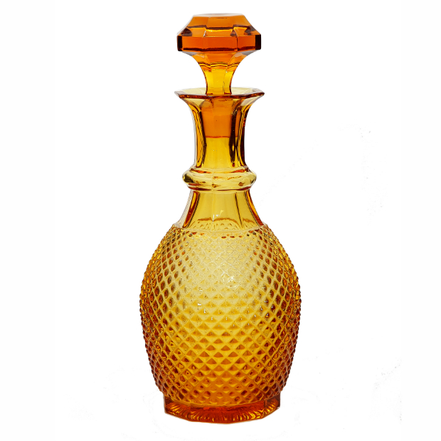 Handmade Amber Glass Diamond Decanter, JasmineWay £65.00