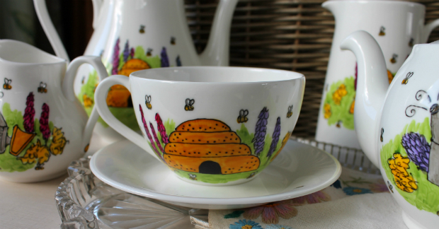 Beekeepers Teacup and Saucer, Laura Lee Designs £25.00