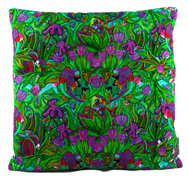 PAPAGAYO EMERALD Velvet Cushion, Lisa Todd Designs £108.00