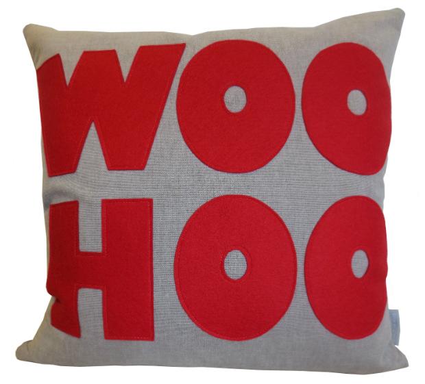 'Woo Hoo'Cushion, Little England Interiors £52.84