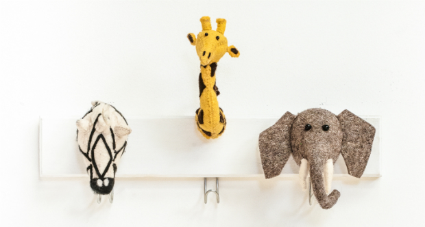 Felt animal Head 4, Mini Eden £63.00