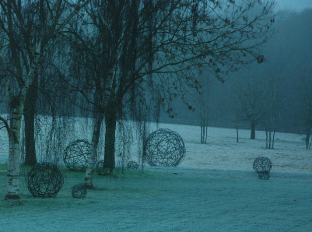 Garden Spheres in Mist, Moore Designs