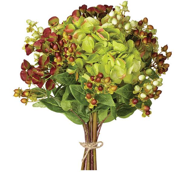 Faux Hydrangea, Euphorbia & Berry Bunch, OKA Direct £86.00