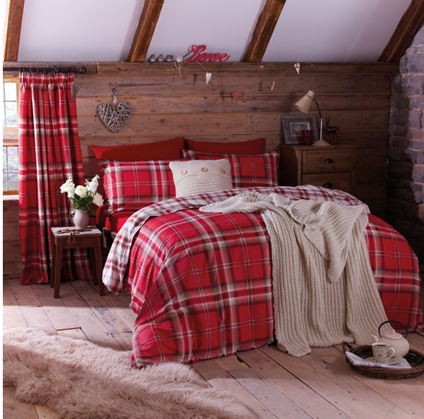 Catherine Lansfield Home Kelso Reversible Tartan Check Duvet Cover, Linens Limited from £8.74