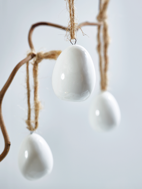 Hanging Ceramic Eggs, Cox and Cox £15.50