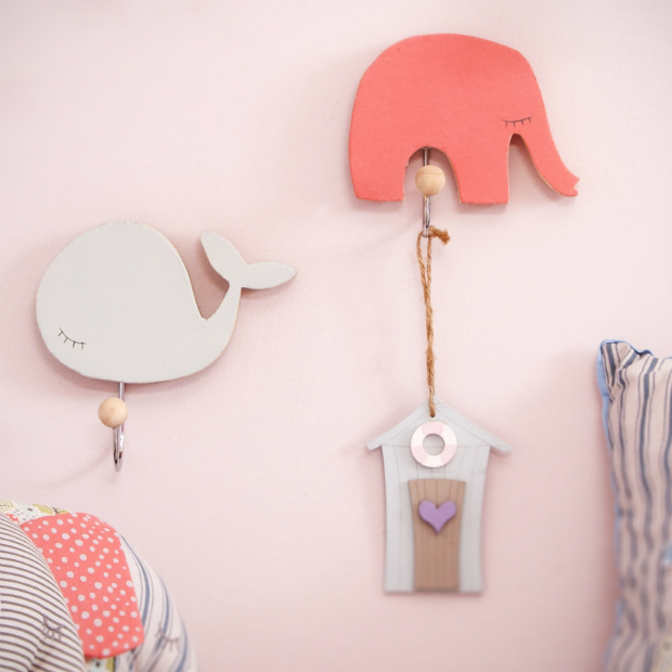 Vintage Wooden Baby Hooks, The Contemporary Home £6.00