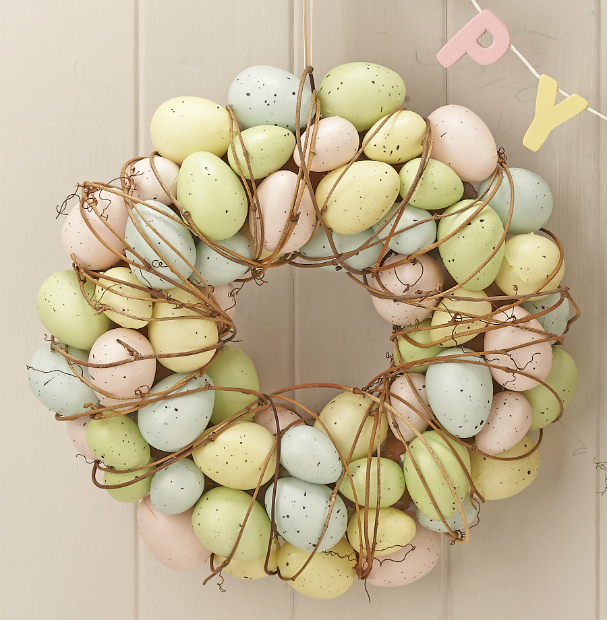 Pastel Easter Egg & Twig Wreath, The Contemporary Home £21.00