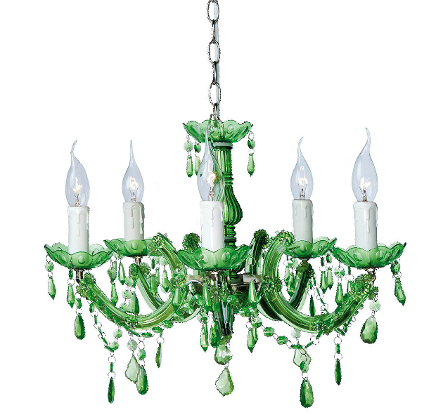 Emerald Green Chandelier, The French Bedroom Company  £140.00