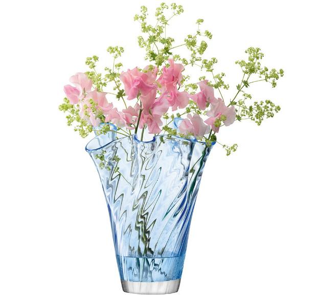 LSA Chiffon Vase Cornflower, Occa-Home £25.00