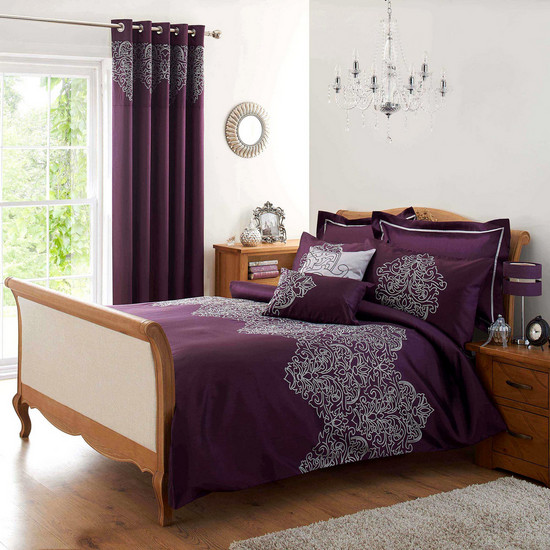 Plum Valencia Collection Duvet Cover, Dunelm-Mill from £24.99