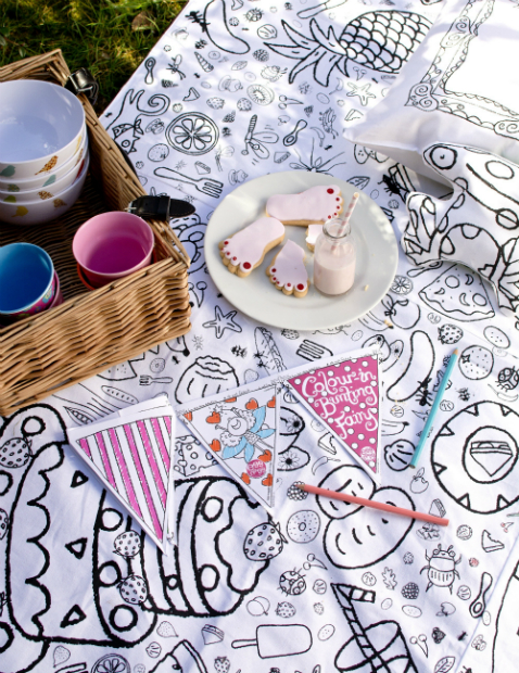 Colour-in Picnic Blanket, Eggnogg £44.99