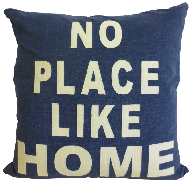'No Place Like Home' Statement Cushion, Little England Interiors