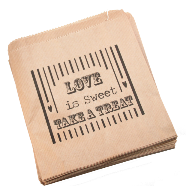 Brown 'Love Is Sweet' Bag, Luck & Luck £3.50