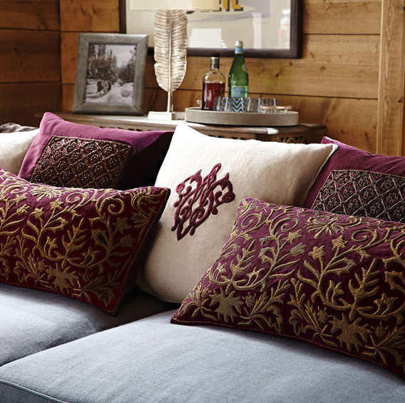 Chaplet Cushion Cover, OKA Direct £295.00