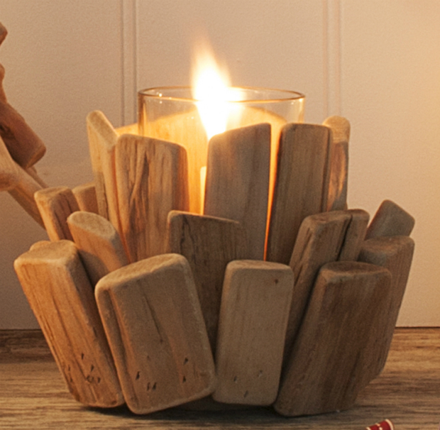 Driftwood Flower Tea Light Holder, The Contemporary Home £15.00