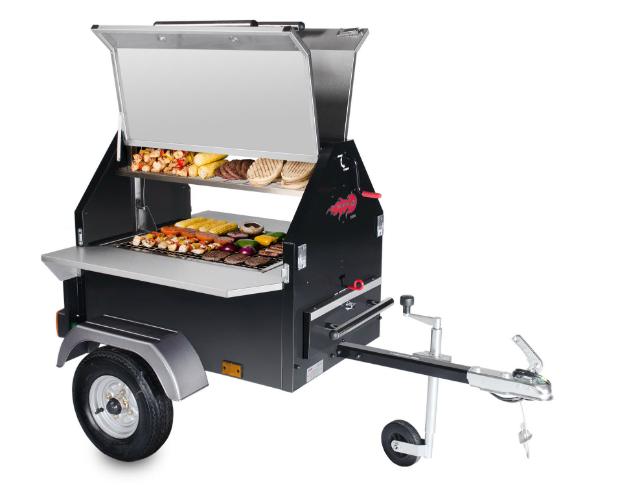 Mini Trailblazer Charcoal BBQ Trailer, White Stores £1999.00
