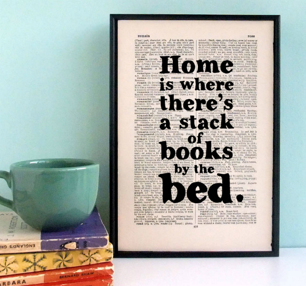 Literary Gift Housewarming Print, Not on the High Street £24.95