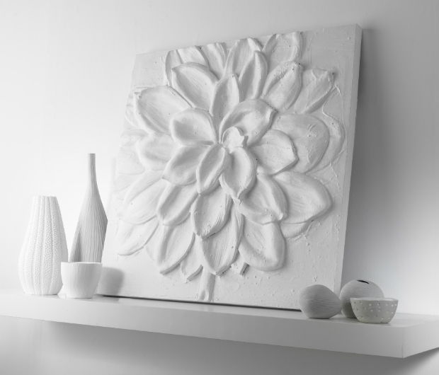 White 3d Flower, ARTHOUSE £25.00