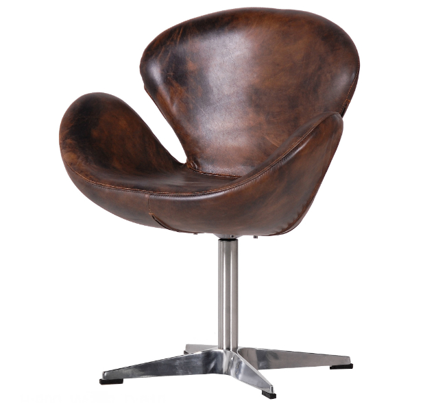 Texas Leather Swivel Chair, Alexander & Pearl £745.00