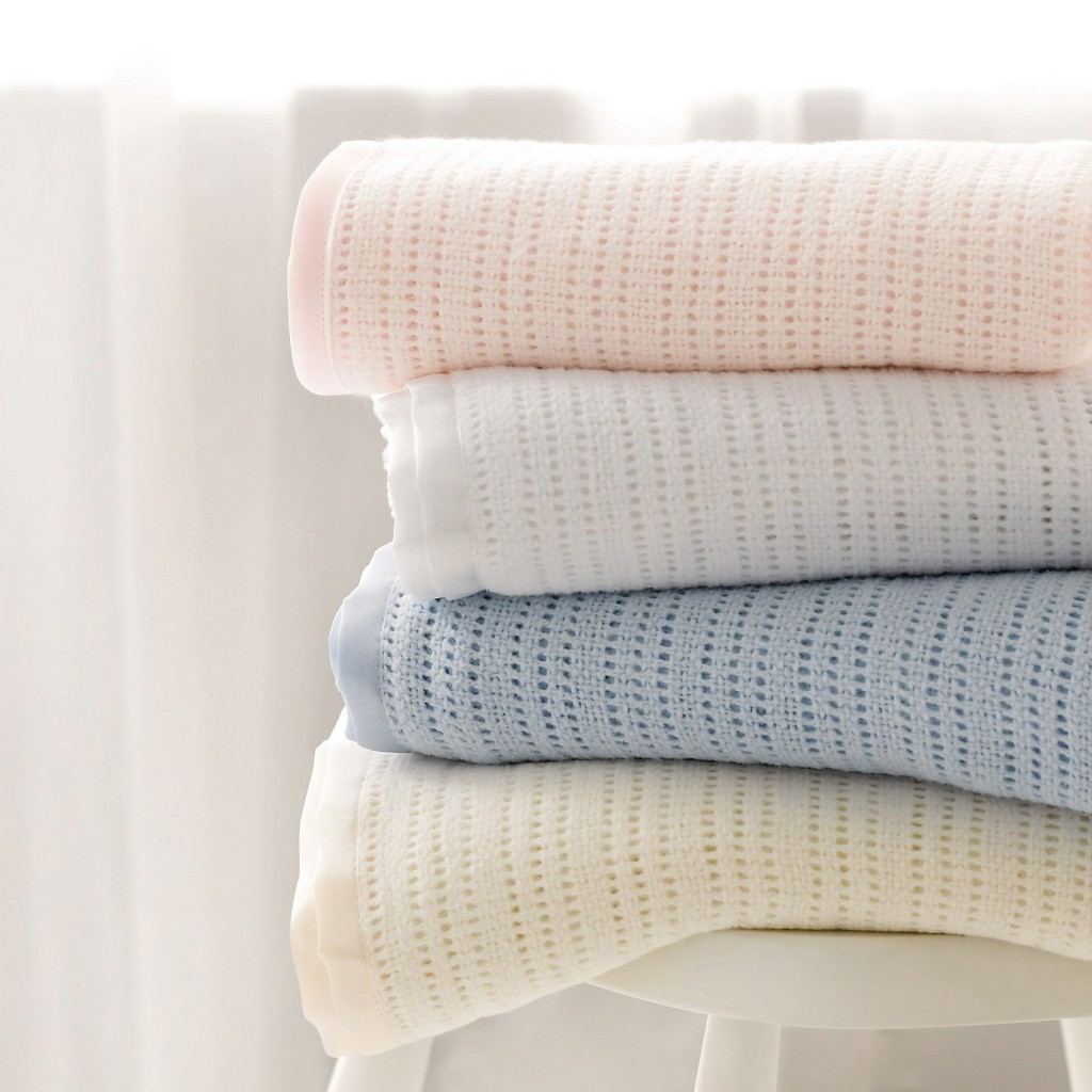 Satin-Edged Cellular Blanket, The White Company from £15.00