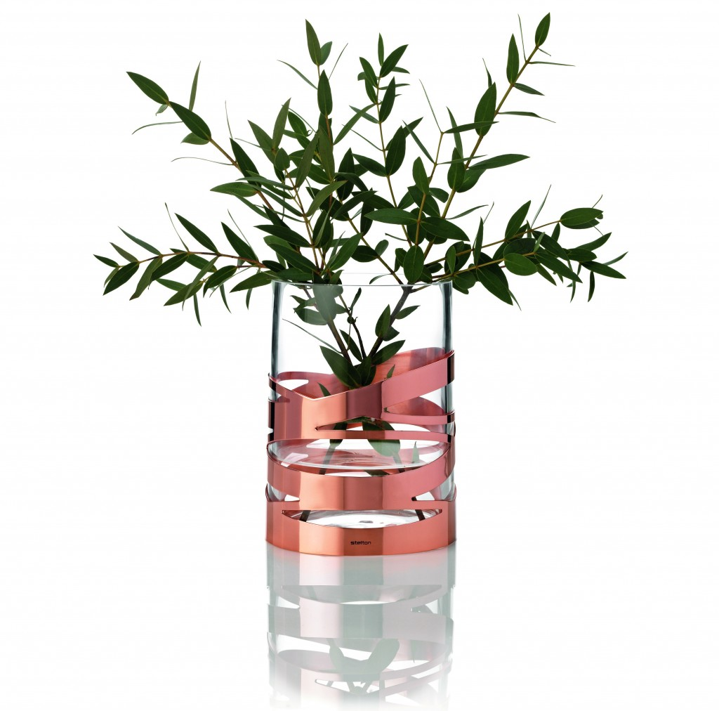Stelton Tangle vase Copper, Cloudberry Living £67.95