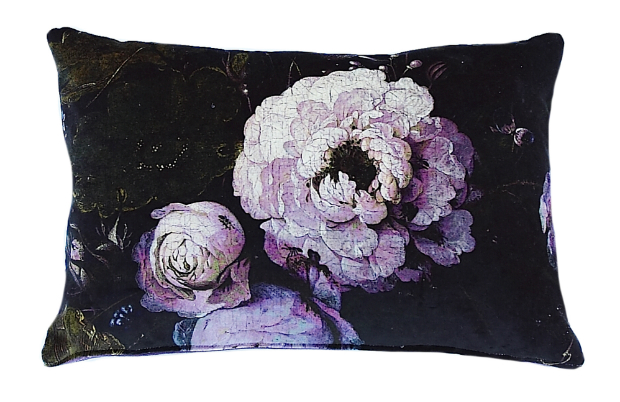 Boho & Co Floralism Peony Velvet Cushion, Cotswold Trading £39.00
