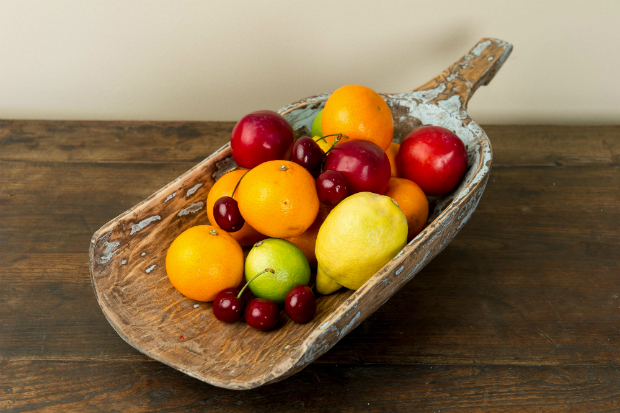Rice Scoop Ideal Wooden Fruit Bowl, Orchid Furniture £25.00