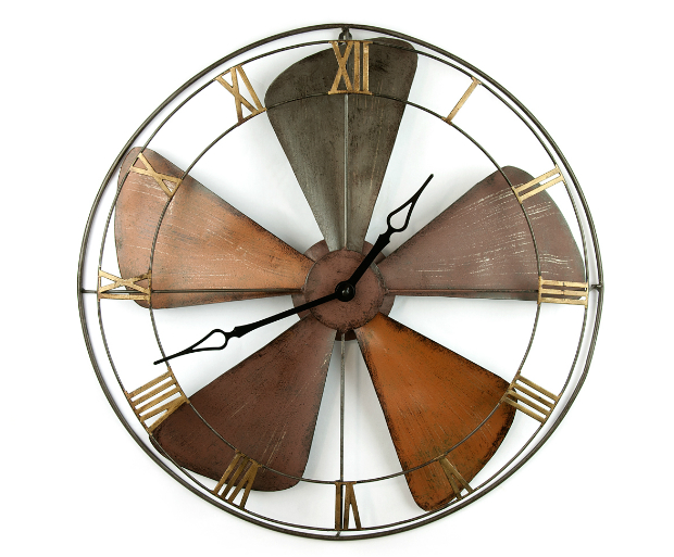Metal Fan Wall Clock, PUJI £54.00
