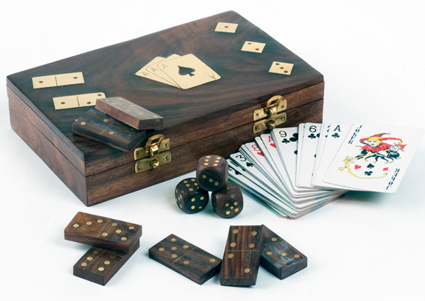 Wooden Games Box, Swanky Maison £24.99