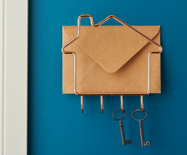 Copper Letter Rack & Key Hooks, The Contemporary Home £16.00