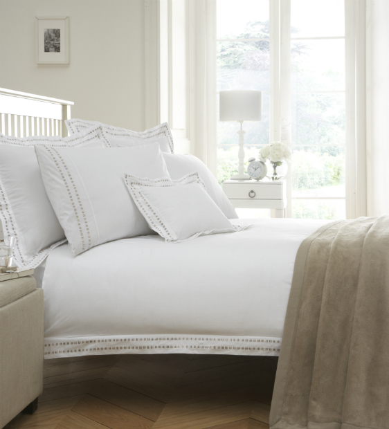 Madrid Embroidered Organic Bedding, The Fine Cotton Company £55.00
