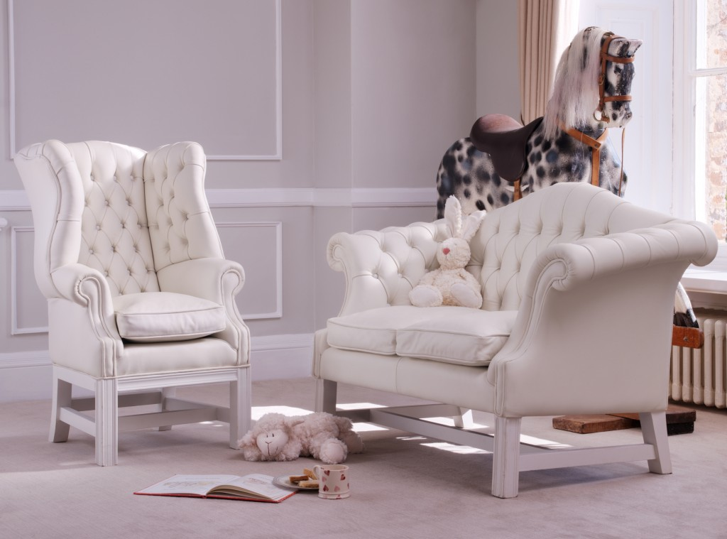 Baby Wing Chair, White Rabbit England £1500.00