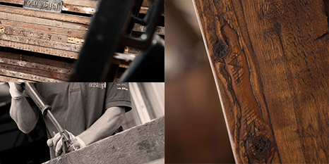 Our reclaimed wood is sustainable and green.