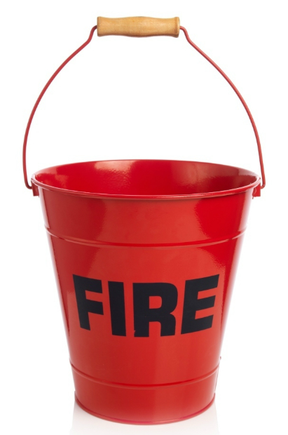 Red Enamel Fire Bucket, National Railway Museum £12.00