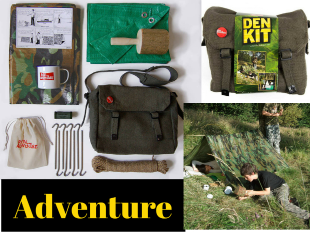 Original Real Adventure Den Kit, Not on the High Street £34.95