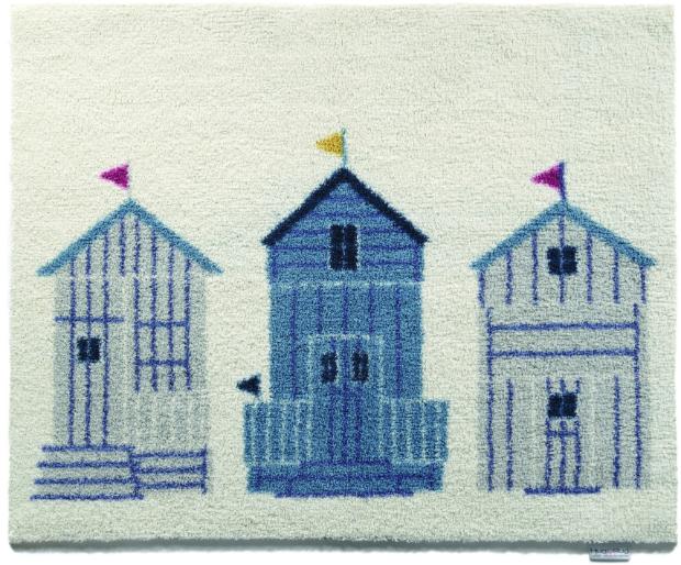 Beach Huts Bath Mat, Coastal Home £39.99