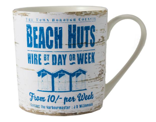 Beach Huts Mug, Coastal Home £9.50