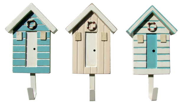 Beach Hut Hooks, Coastal Home £12.95