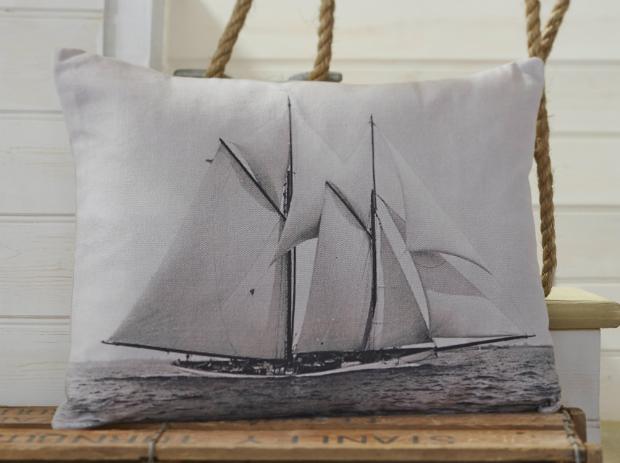 Tide Ship Light Grey Cushion, B&Q £11.00