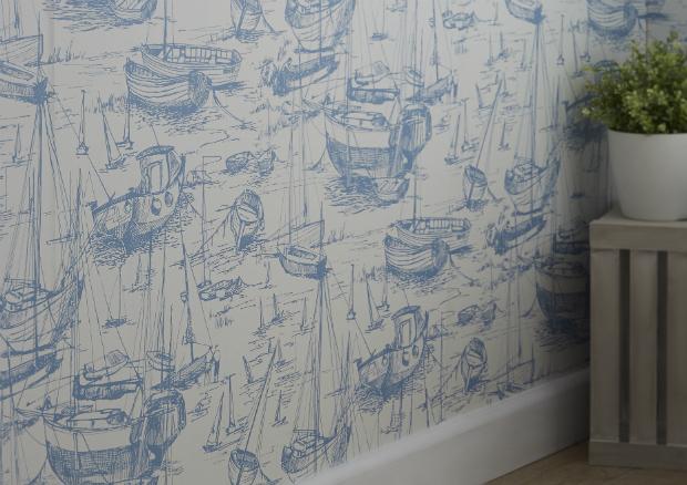 Colours Harbour wallpaper, B&Q £12.00